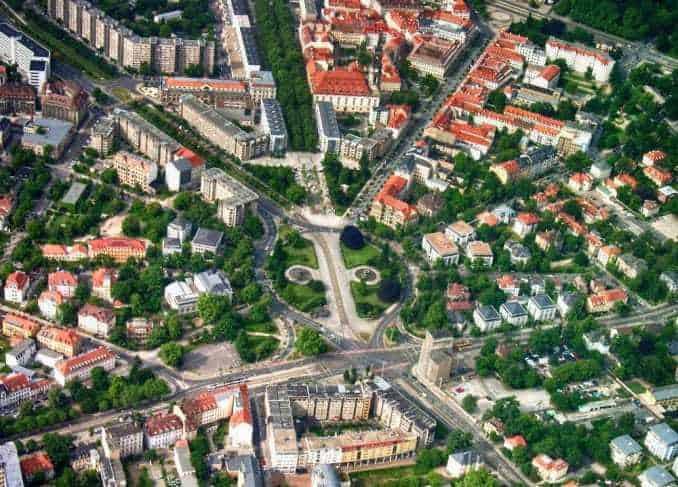 Bild: Luftbild des Albertplatz (Dresden)
